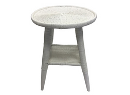 Malawi Side Table in White