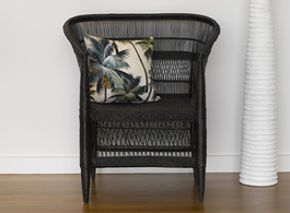 Malawi Love Seat Chair in Black