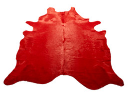 Scarlet Cow Hide Rug