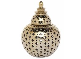 Miccah Temple Jar In Gold