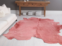 Rose Cow Hide Rug in Large
