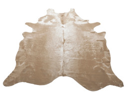 Ecru Cow Hide Rug in Large