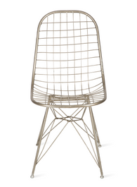 Mesh Chair in Silver