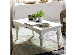 Provence Rectangle Coffee Table in White