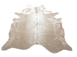 Ivory Cow Hide Rug in Large