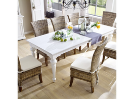 Provence Dining Table in White 240 cm
