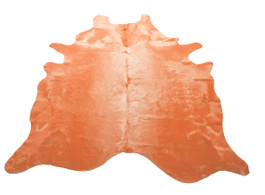 Tangerine Cow Hide Rug in Large