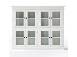 Maine 8 Door Pantry With Glass in White