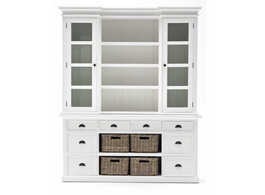 Maine Buffet & Hutch in White