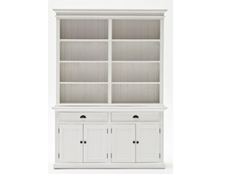 Maine Buffet And Open Shelf Hutch in White