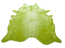Lime Cow Hide Rug in Large