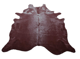 Black Plum Cow Hide in Large