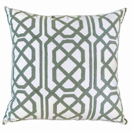 Jagger Cushion in Celadon