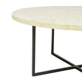 Taj Feather Bone Round Coffee Table