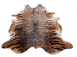 Tiger Print Cow Hide Rug