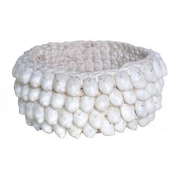 Cloris Shell Holder in White