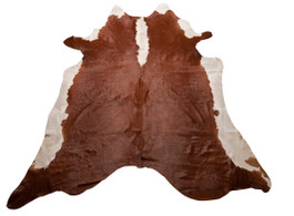 Brown & White Natural Cow Hide Rug