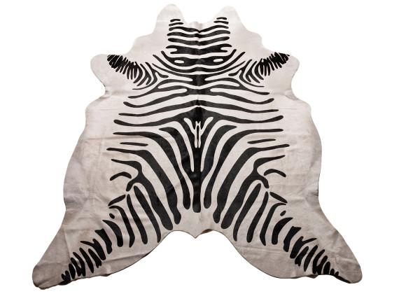 Zebra Print Cow Hide Rug