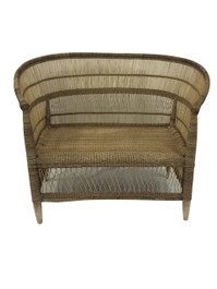 Malawi Love Seat Chair in Natural