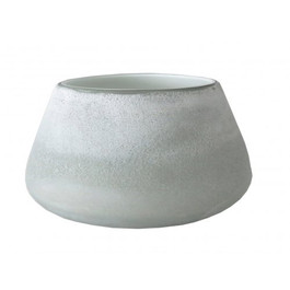 Forme Low Vase in Frosted Grey
