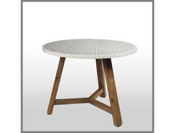 Neto Bone Dining Table with Natural Legs