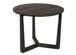 Baha Round Side Table In Grey Dust Teak