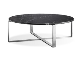 Elle Marble Cross Round Coffee Table
