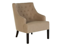 Kennedy Round Button Occasional Chair