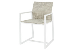 Cancun Outdoor Sleigh Dining Arm Chair