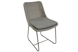 Cancun Stainless Steel Outdoor Dining Chair
