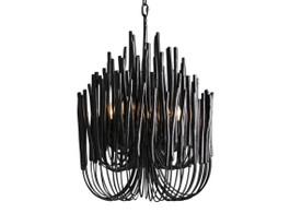 Helsinki Wooden Chandelier in Black
