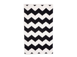 Laguna Black Chevron Flat Weave Entrance Matt