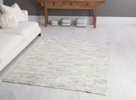 Laila Cow Hide Rug in White