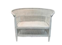 Malawi Love Seat Chair in White