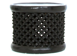 Bamileke Side Table in Black