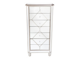Kensington Lingerie Tallboy In Antique Silver