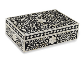 Bone Inlay Box in Black