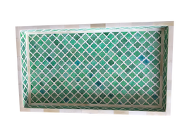 Bone Inlay Marrakech Tray in Emerald