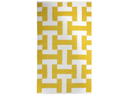 Canal Yellow Flat Weave Floor Rug