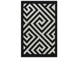 Broadway Black & White Flat Weave Floor Rug