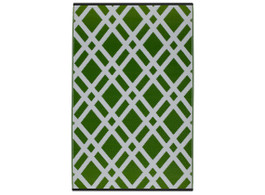 Dublin Green & White Outdoor Rug