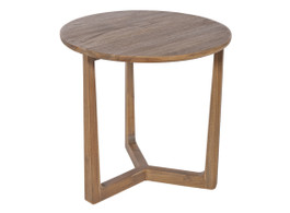 Baha Round Side Table In Hazelnut