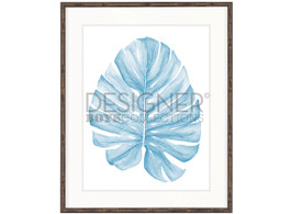 Bangalow Leaf Pale Blue I by Designer Boys