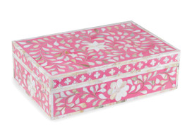 Mother Of Pearl Inlay Box in Strawberry