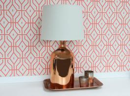 Bell Copper Glass Lamp