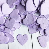 Heart Shaped Plantable Confetti - Lavender