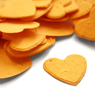 Heart Shaped Plantable Confetti - Marigold Yellow