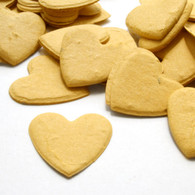 Heart Shaped Plantable Confetti - Mustard Yellow