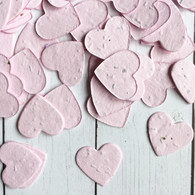 Pink Heart Shaped Plantable Confetti