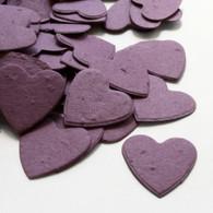 Heart Shaped Plantable Confetti - Purple